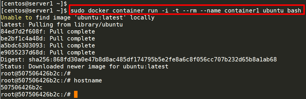 Automatically Removing the Container