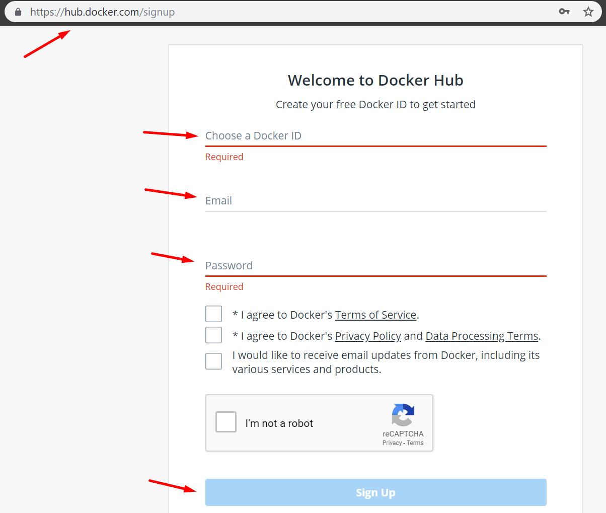 go to hub.docker.com