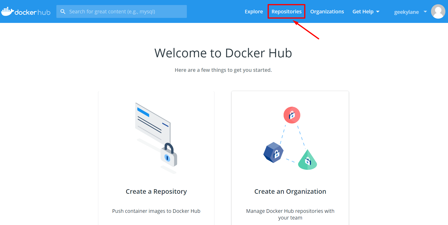 repositories in docker