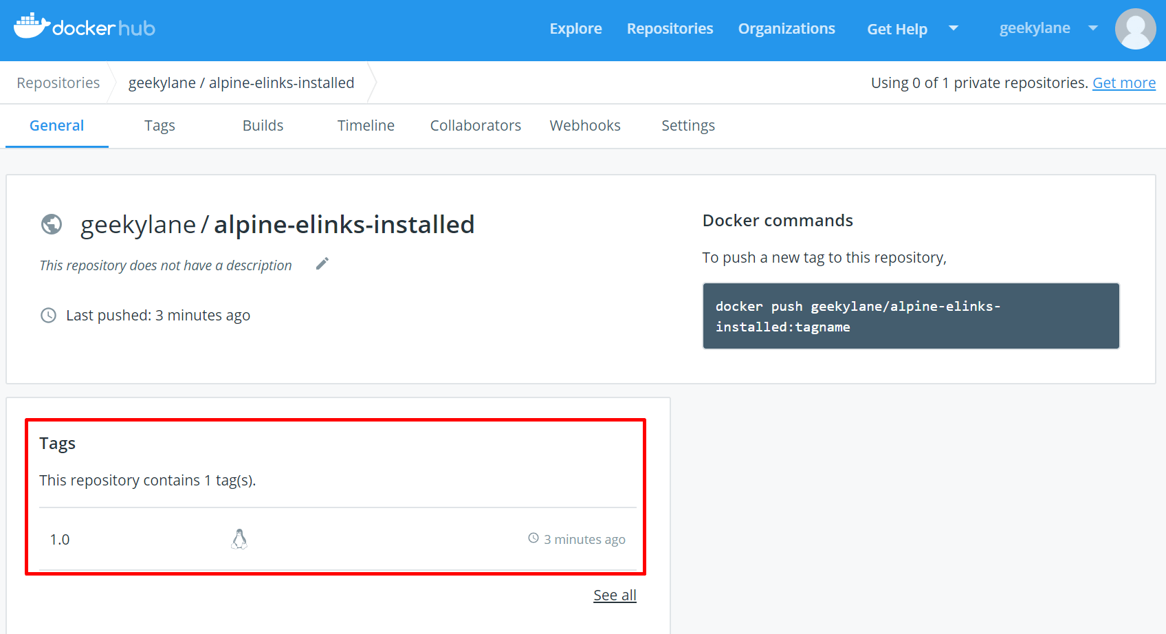 How to push docker image to docker hub? | GeekyLane