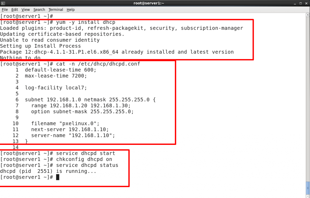 install and configure dhcp server on redhat 6 or centos 6