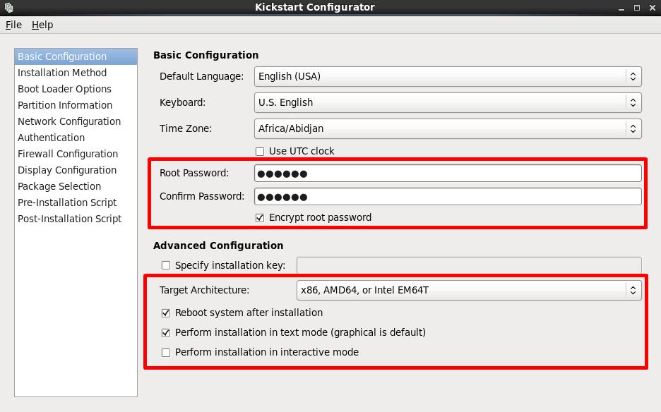 kickstart configurator - setup and configure pxe installation server