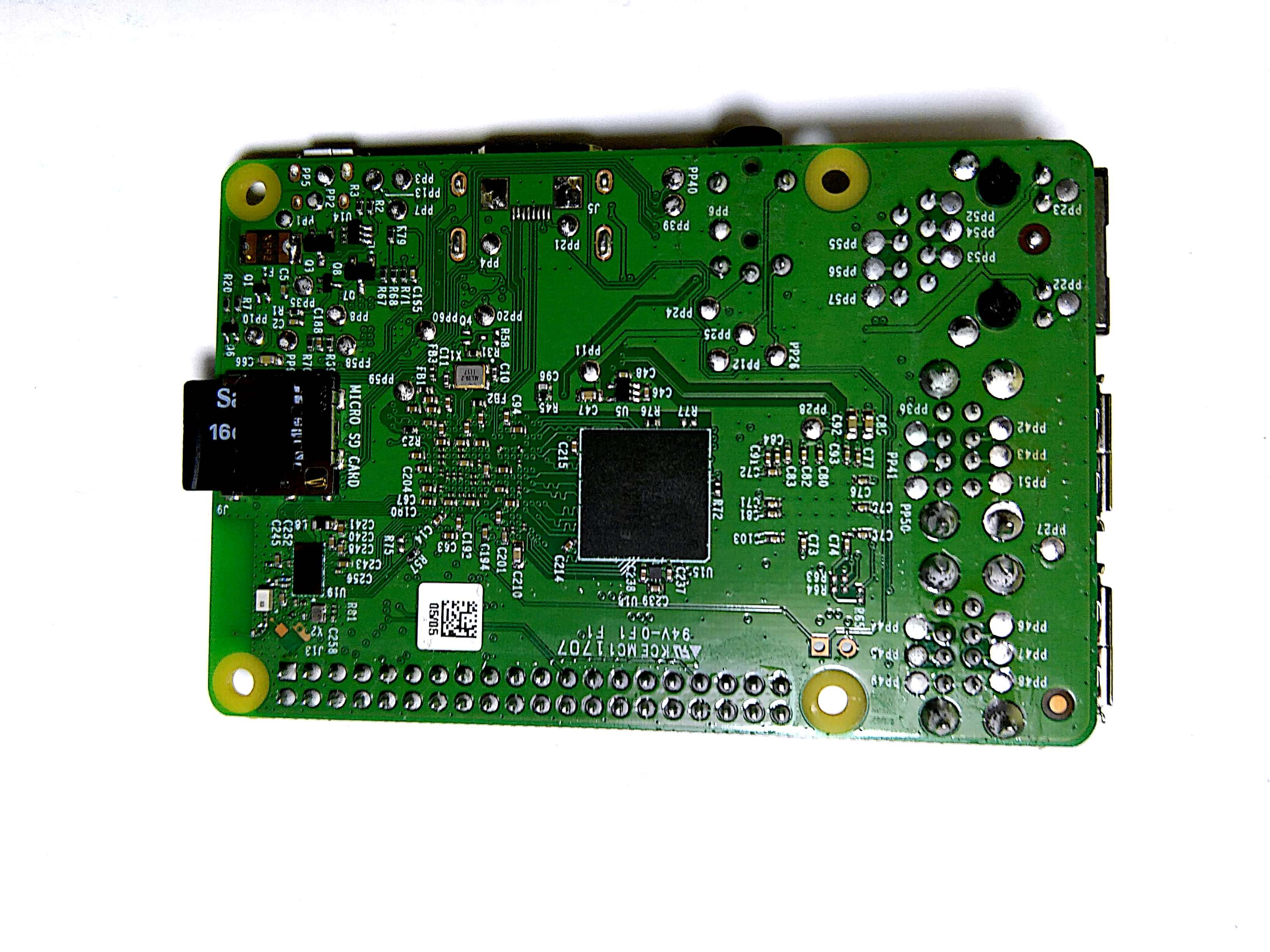 Insert memory card in the raspberry pi