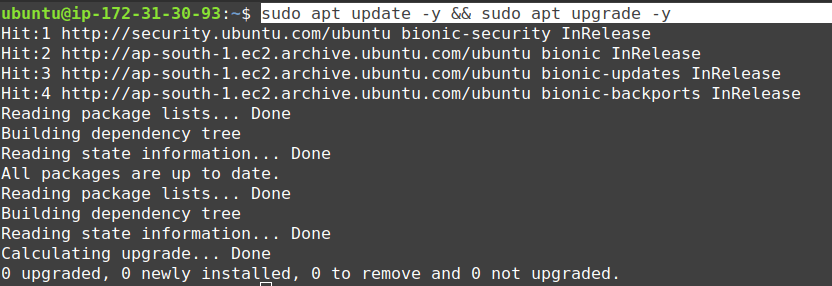 aws ec2 ubuntu update and upgrade