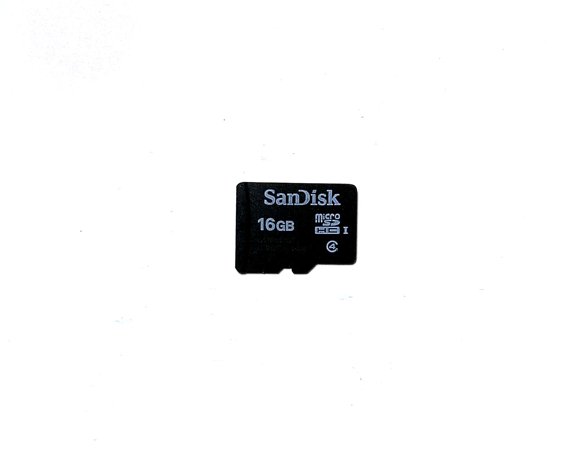 Our sandisk class 4 16GB memory card