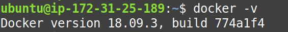 Check docker version without sudo on EC2 Ubuntu 18.04