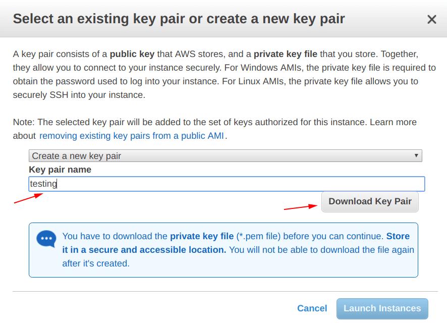 EC2 - Create a new key pair