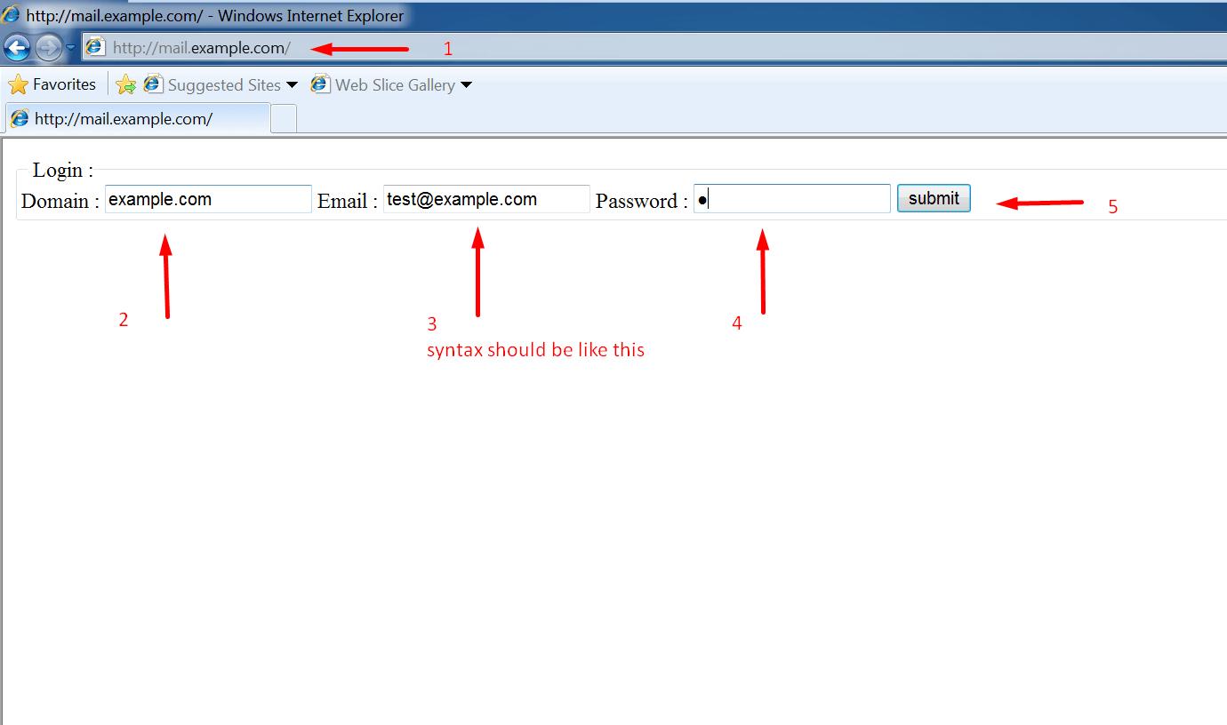 """Go to """"mail.example.com"""""""