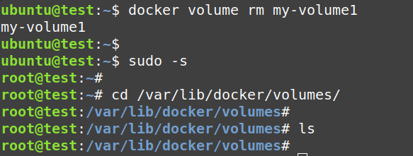Delete a docker volume