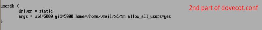 More config of dovevot conf file