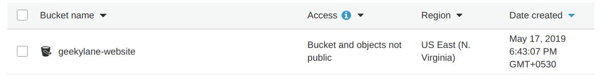 Create a new S3 bucket Static Website Using S3 Bucket