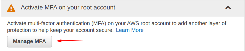 Activate multi-factor authentication on IAM aws