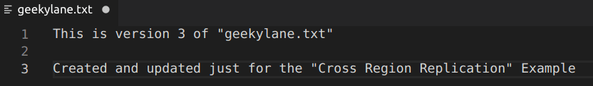 Updated version 3 of geekylane txt file