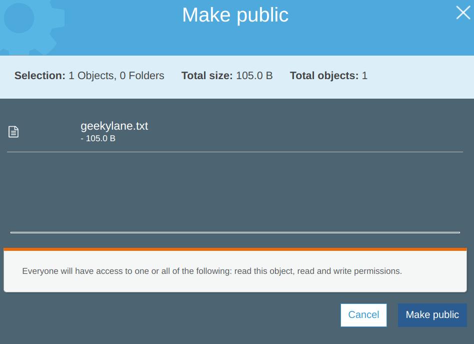 Make the file public