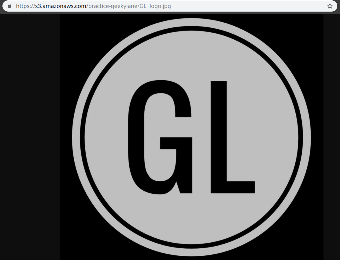 The GL logo jpeg can be seen via the object url