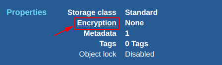 Click on encryption to change the encryption for file inside an S3 bucket
