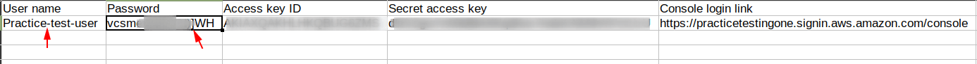 Copy password from the crendentials file