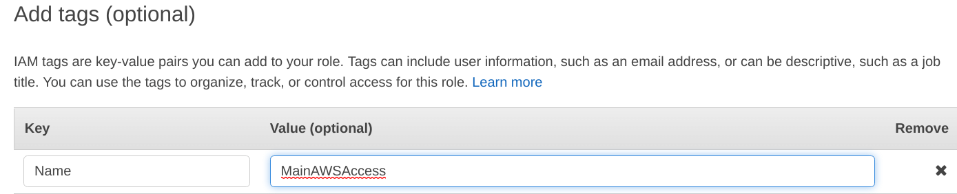 Give tags to the IAM role Set-up EC2 with IAM roles