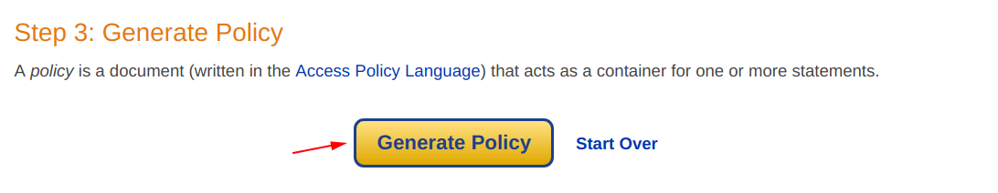 Generate Policy