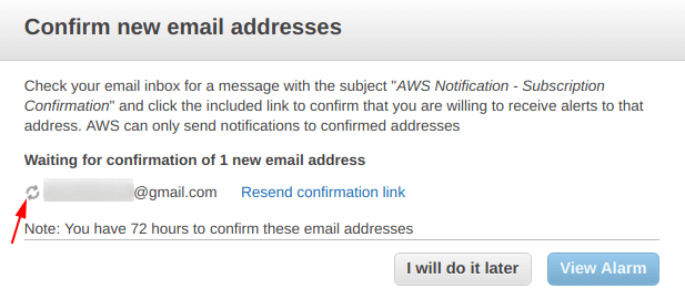 Waiting for email address verification