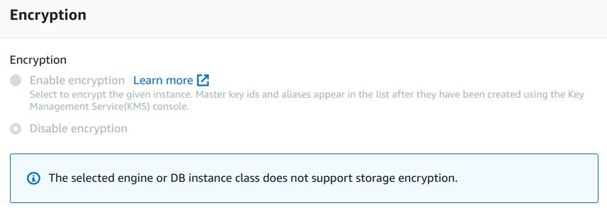 Configure advanced settings - Encryption