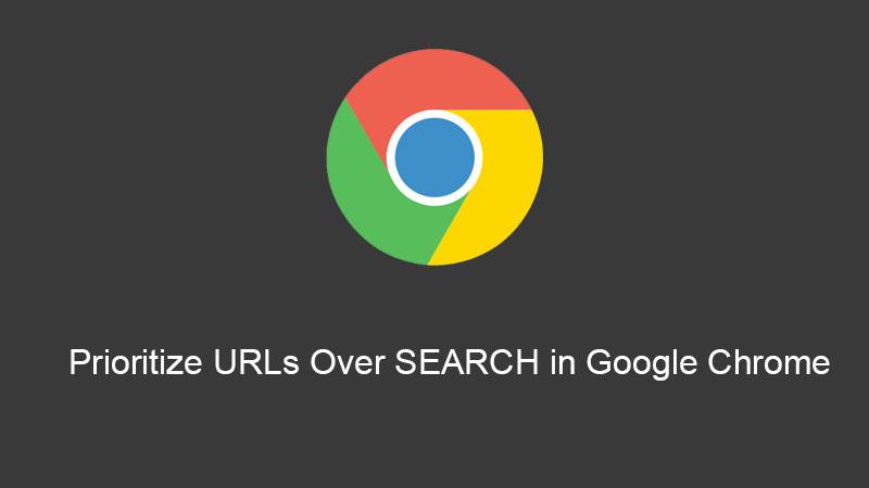 Prioritize urls over search in google chrome