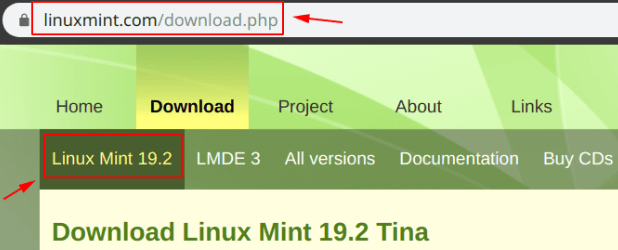 Download linux mint 19.2