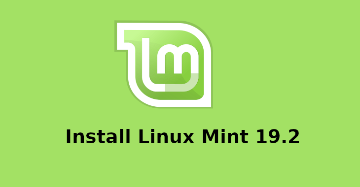 Install Linux Mint 19.2